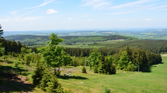 Aussicht vom Erbeskopf, der höchsten Erhebnung in Rheinland-Pfalz